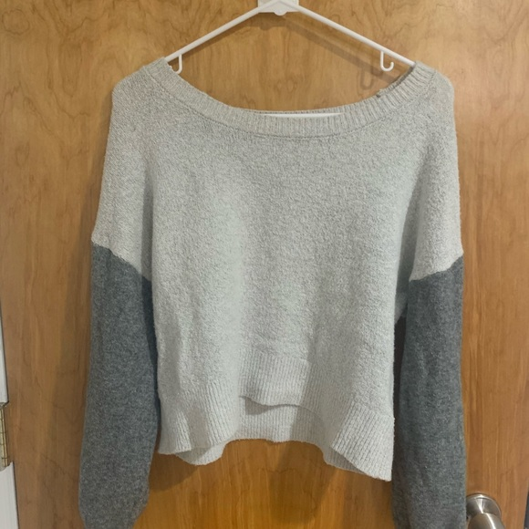 colorblock slouchy sweater